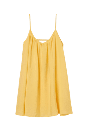 Airy Lyocell-blend Dress - Yellow - Ladies   H&M US