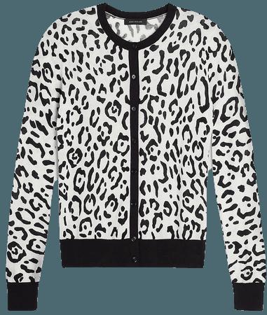 Leopard Print Ann Cardigan | Ann Taylor