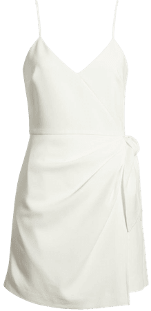 French Connection Whisper Faux Wrap Minidress   Nordstrom