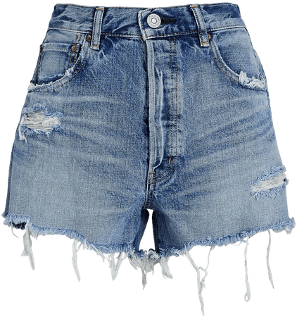 MOUSSY VINTAGE Packard Distressed Denim Shorts   INTERMIX®
