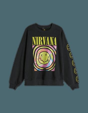 Nirvana sweatshirt - Sweatshirts and hoodies - Woman | Bershka