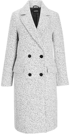 Wool-blend Boucle Double Breasted Coat | Express