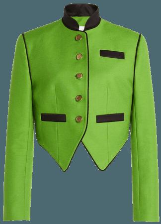Cropped Contrast Blazer by George Keburia   Moda Operandi