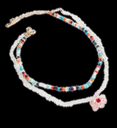 FULL TILT Layered Beaded Flower Necklace - MULTI - U121082NS01 | Tillys