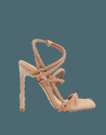 ASOS DESIGN Nate sporty heeled sandals in camel | ASOS