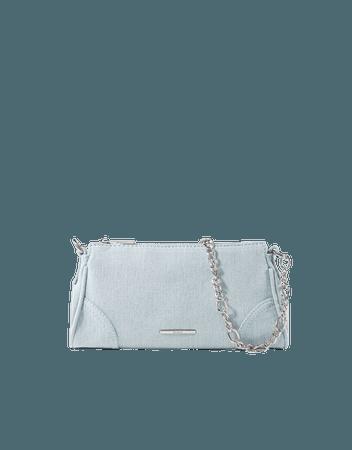 Mini handbag with chain and corner details - New - Woman | Bershka