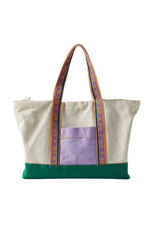 BDG Colorblock Canvas Zip Tote Bag | Urban Outfitters