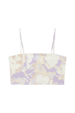 Spaghetti strap crop top - Marble print - Tanktops - Monki WW