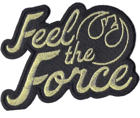 Star Wars The Last Golden 'Feel The Force' Logo Iron on Patch
