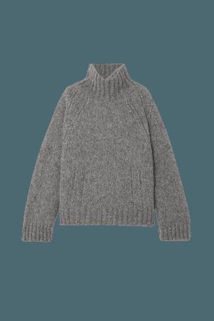 Gray + NET SUSTAIN Aleya oversized alpaca-blend turtleneck sweater | By Malene Birger | NET-A-PORTER