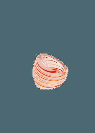 Semi-transparent large ring - Women   Mango USA