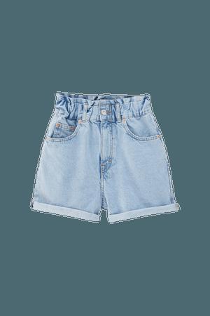 Paperbag denim shorts - pull&bear