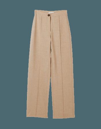 Loose-fitting wide-leg pants - Pants - Woman | Bershka