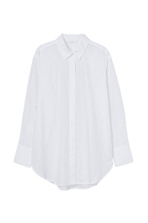 Oversized Cotton Shirt - White