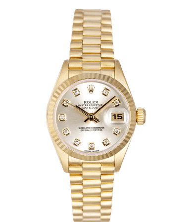 Gold pearl Rolex watch