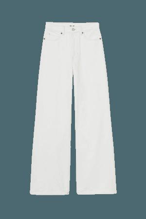 Wide Ultra High Waist Jeans - White
