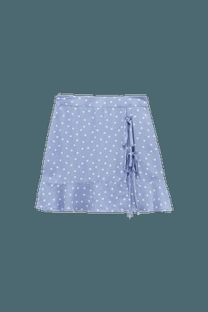 Basic wrap mini skirt - 100% ECOVERO™ Viscose - pull&bear