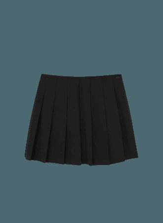 Basic box pleat mini skirt - pull&bear