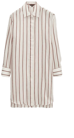 Striped oversize blouse - Women - Massimo Dutti