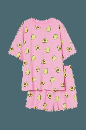 Jersey Pajamas - Pink - Ladies | H&M US