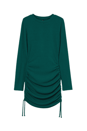Ribbed Dress - Green