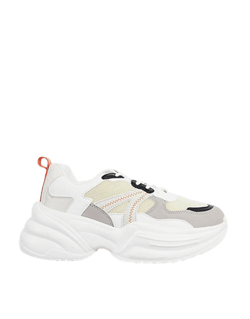 Topshop city chunky sneakers in natural | ASOS