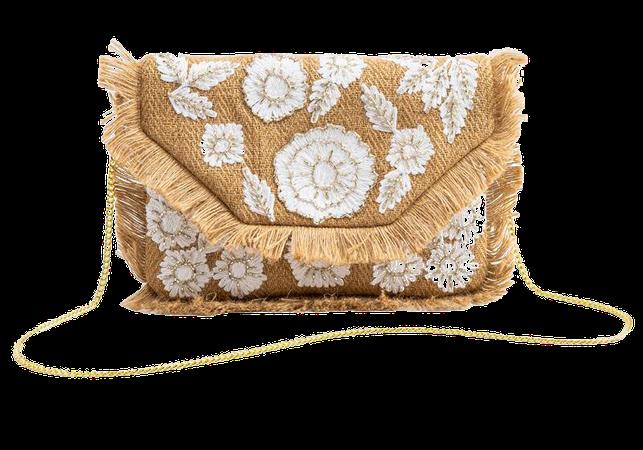 Kami Straw Embellished Clutch | francesca's