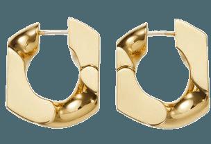 16k Gold-Plated Chain Unit Earrings By Numbering | Moda Operandi