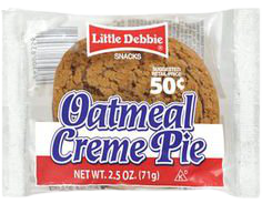 Little Debbie Snacks Oatmeal Creme Pie, 2.5 oz
