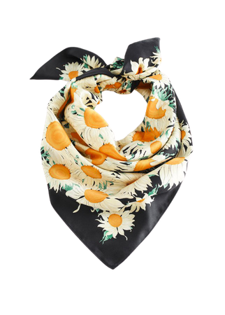 Sunflower Print Scarf - Sunflowers - Lightweight scarves - & Other Stories