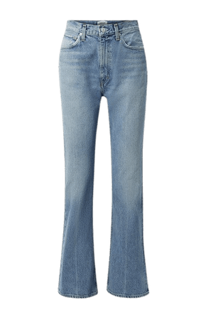 Organic High-rise Flared Jeans - Mid denim