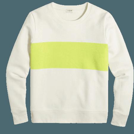 Bold striped crewneck sweatshirt