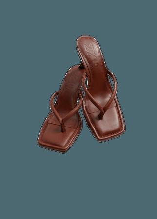 Heel leather sandals - Women | Mango United Kingdom