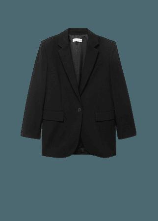 Pocketed oversize blazer - Women   Mango USA
