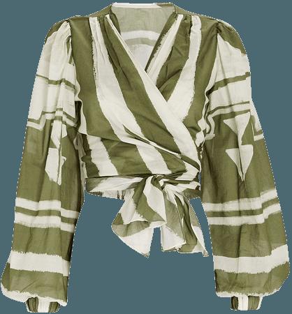 Johanna Ortiz Camino Inca Organic Cotton Wrap Top   INTERMIX®
