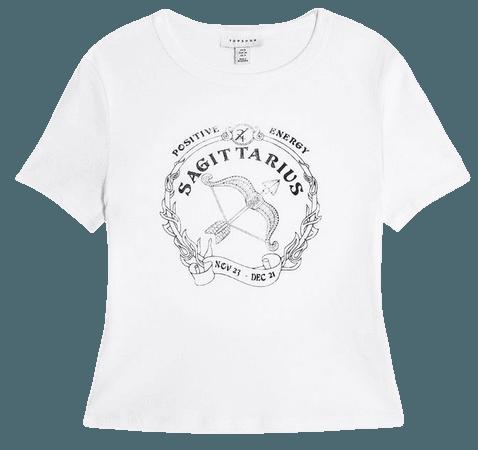 Horoscope Sagittarius T-Shirt   Topshop white
