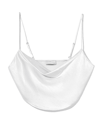 Satin cami top - Tees and tops - Woman | Bershka