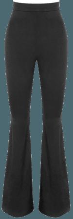 'Resort' Black Silky Jersey Trousers - Mistress Rock
