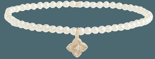 Sydney Evan - Mini Moroccan charm bracelet with pearls and diamond | Mytheresa