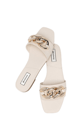 Flat sandals with chain - Women's Just in | Stradivarius United States