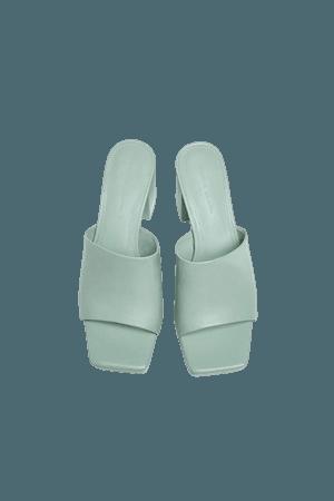 High heel mule sandals - pull&bear
