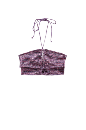 Cut-out crop top with straps - pull&bear