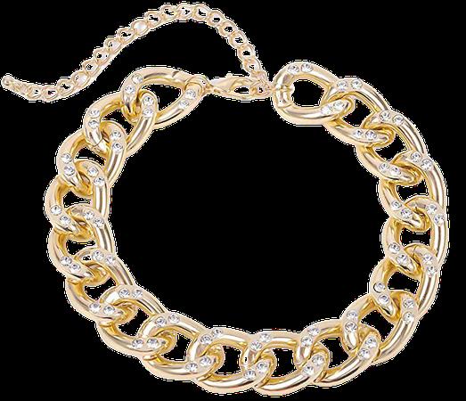 Amazon.com: Ingemark Shiny CZ Rhinestone Curb Cuban Link Chain Choker for Women Unisex Cool Hip Hop Miami Cuban Diamond-Cut Chain Choker Necklace (Style 1 Golden): Clothing