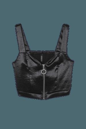 Satin Bralette - Black - Ladies | H&M US