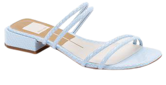 HAIZE SANDALS IN SKY BLUE EMBOSSED LEATHER – Dolce Vita