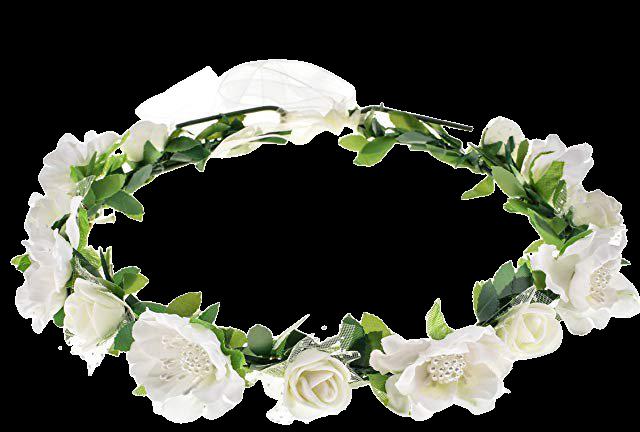 Amazon.com: Love Sweety Girls Boho Rose Floral Crown Wreath Wedding Flower Headband Headpiece (White): Clothing