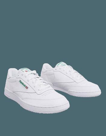 Reebok Club c 85 sneakers in white | ASOS
