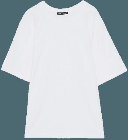 WHITE COLLECTION OVERSIZED T-SHIRT | ZARA United States