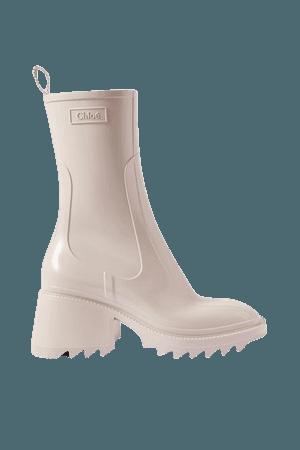 Betty Rubber Boots - Beige