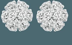 Posey 18k White Gold Diamond Earrings By Briony Raymond | Moda Operandi